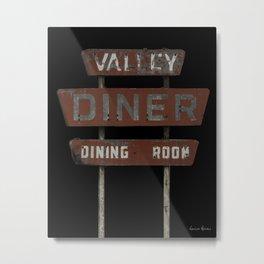 Valley Diner Metal Print