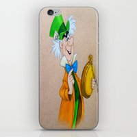 mad hatter iPhone & iPod Skins featuring Mad Hatter by Sierra Christy Art