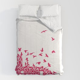 The birds / Red on white Comforters