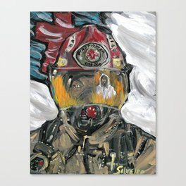 Christian fire Fighter Canvas Print