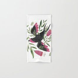 Swallow with Flowers Hand & Bath Towel