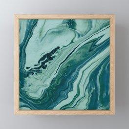 Blue Planet Marble Framed Mini Art Print