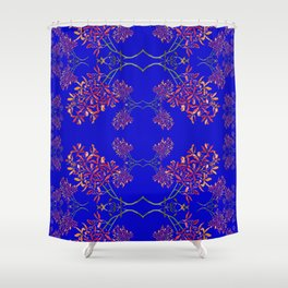 Orchids on Blue Shower Curtain