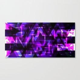 Violet horizontal strict stripes of sparkling blueberry triangles. Canvas Print