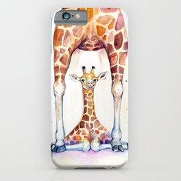 Gorgeous Giraffes (Rain) iPhone Case