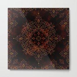 Moroccan Mandala in Burnt Sienna Metal Print