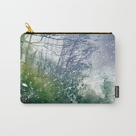 Acrylic Forest Blizzard Carry-All Pouch