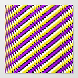 Purple gold white and black slur 2 Canvas Print