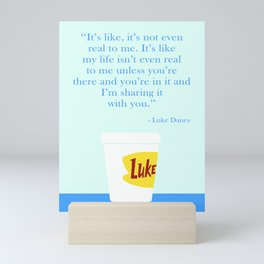 Luke's diner Mini Art Print