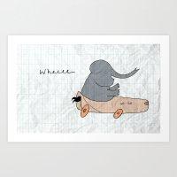 Elephant go-go Art Print