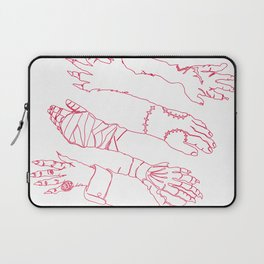 Classic Horror Hands (Red Line) Laptop Sleeve