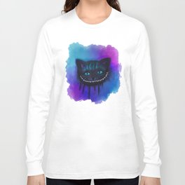 Cheshire Cat Watercolor Long Sleeve T-shirt