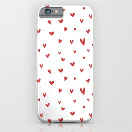 I Love Being Yours - Red Heart Doodle Pattern iPhone Case