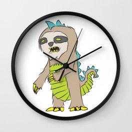Slothzilla, Kaiju from Space Wall Clock