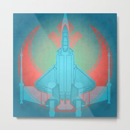 Into the future USAF F22 Metal Print