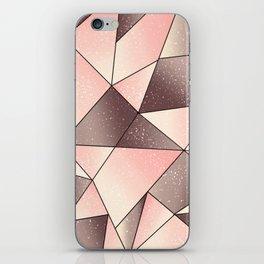 Pink tape art iPhone Skin