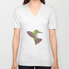 The Green Hummingbird Unisex V-Neck