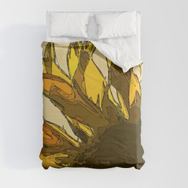 Yellow sunflower painting sketched Comforters