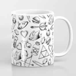 Zelda A Collection of Items Pattern Coffee Mug