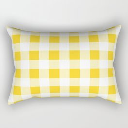 Yellow and White Buffalo Check Rectangular Pillow