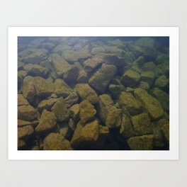 Aquatic stone Art Print