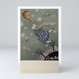 You can fly, Mary! Mini Art Print