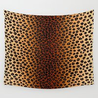 cheetah Wall Tapestries featuring CHEETAH SKIN by aztosaha