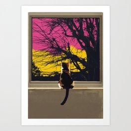 The Cat Knows.... Art Print