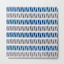 Tee Pee Lapis Blue Metal Print