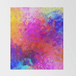 Colorful Splatter Throw Blanket