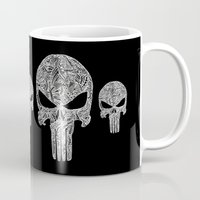 punisher Mugs featuring Punisher  by christoph_loves_drawing