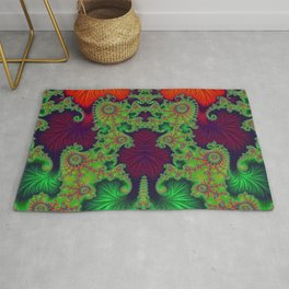 Psychedelic Centrepiece - Mirrored Fractal Art Rug