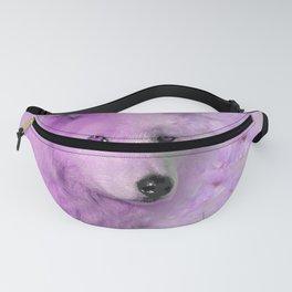 PURPLE WOLF FLOWER SPARKLE Fanny Pack