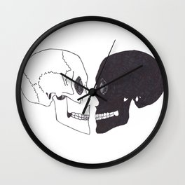 Heartshaped minds Wall Clock