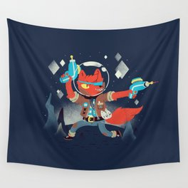 Bounty Hunter Space Cat Killa Wall Tapestry