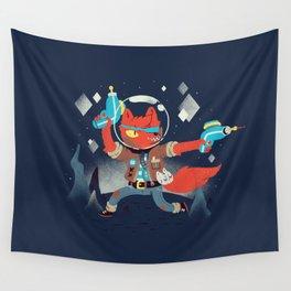 Bounty Hunter Space Cat Killa Wall Tapestry