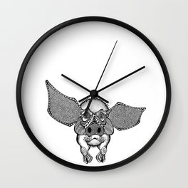 Pig on the Wings Wall Clock