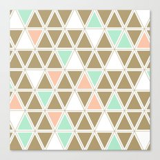 Colored Triangles Canvas Print