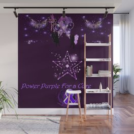 Power Purple For a Cure - Mystic Alternate Wall Mural