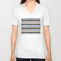 ethnic V-neck T-shirts featuring Ethnic Color by Louise Machado