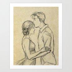 valentine kiss #7 Art Print