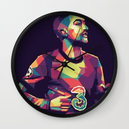 Hakim Ziyech on WPAP Pop Art Wall Clock