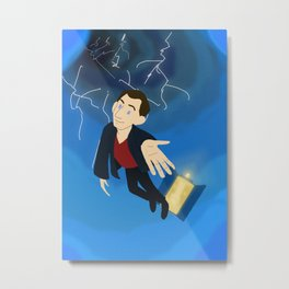 9th Doctor in the Time Vortex Metal Print