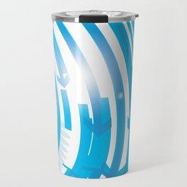 BLUE ARROWS Abstract Art Travel Mug