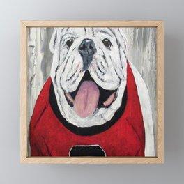 UGA Bulldog Framed Mini Art Print