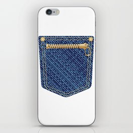 Zipper Pocket iPhone Skin