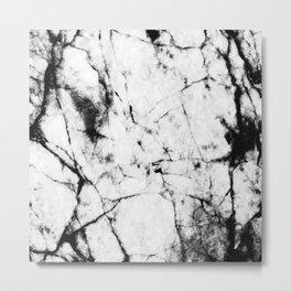 Marble Concrete Stone Texture Pattern Effect Dark Grain Metal Print