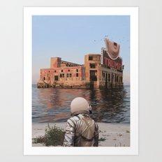 Empty Palace (Trump) Art Print