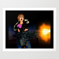 gatling girl Art Print