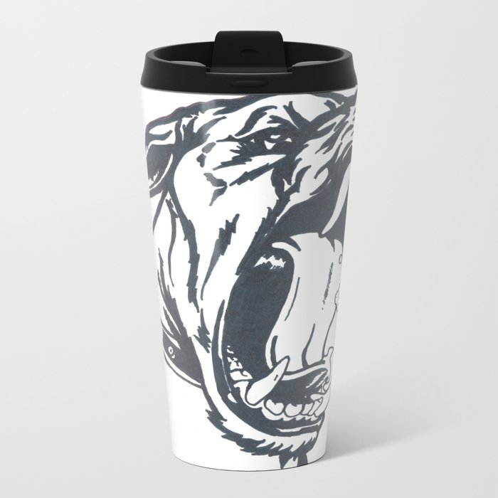 Aggressive Dog Travel Mug